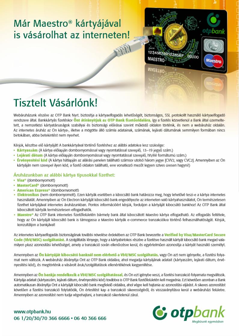 fba35685f4ad Információ bankkártyás fizetéshez